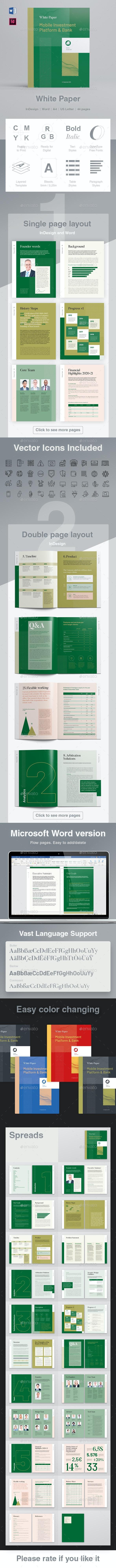 White Paper Multipurpose - Informational Brochures