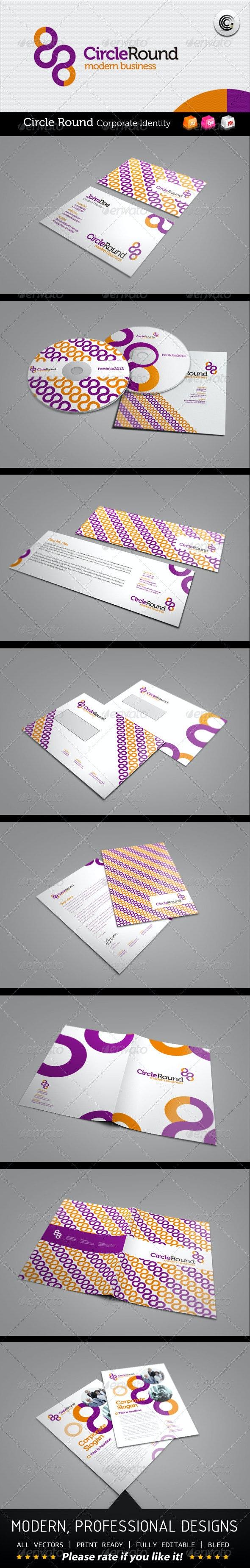 Circle Round Modern Business Corporate Identity - Stationery Print Templates