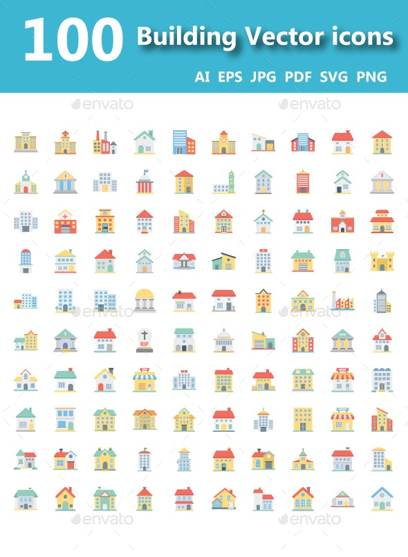 Building Vector Icons Pack - Icons