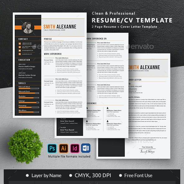 Resume Template Graphics Designs Templates From Graphicriver