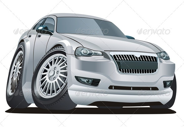 Cartoon Modern Car - Man-made Objects Objects