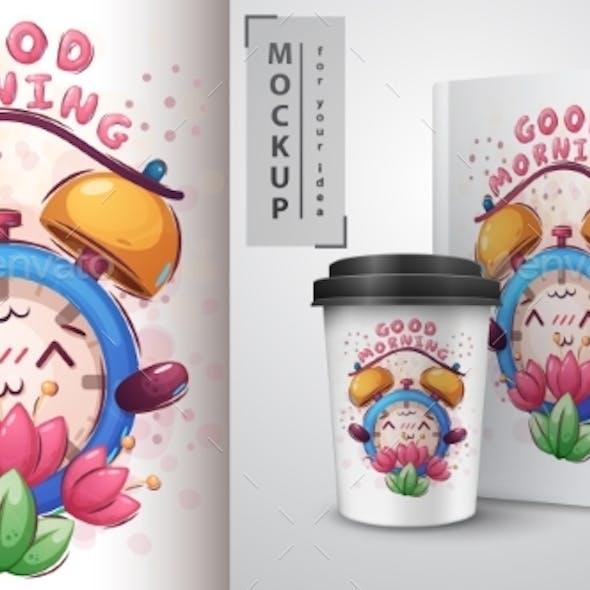 Flower Alarm Clock Poster and Merchandising.