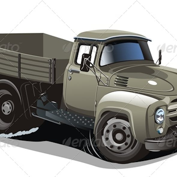 Cartoon Flatbed Truck