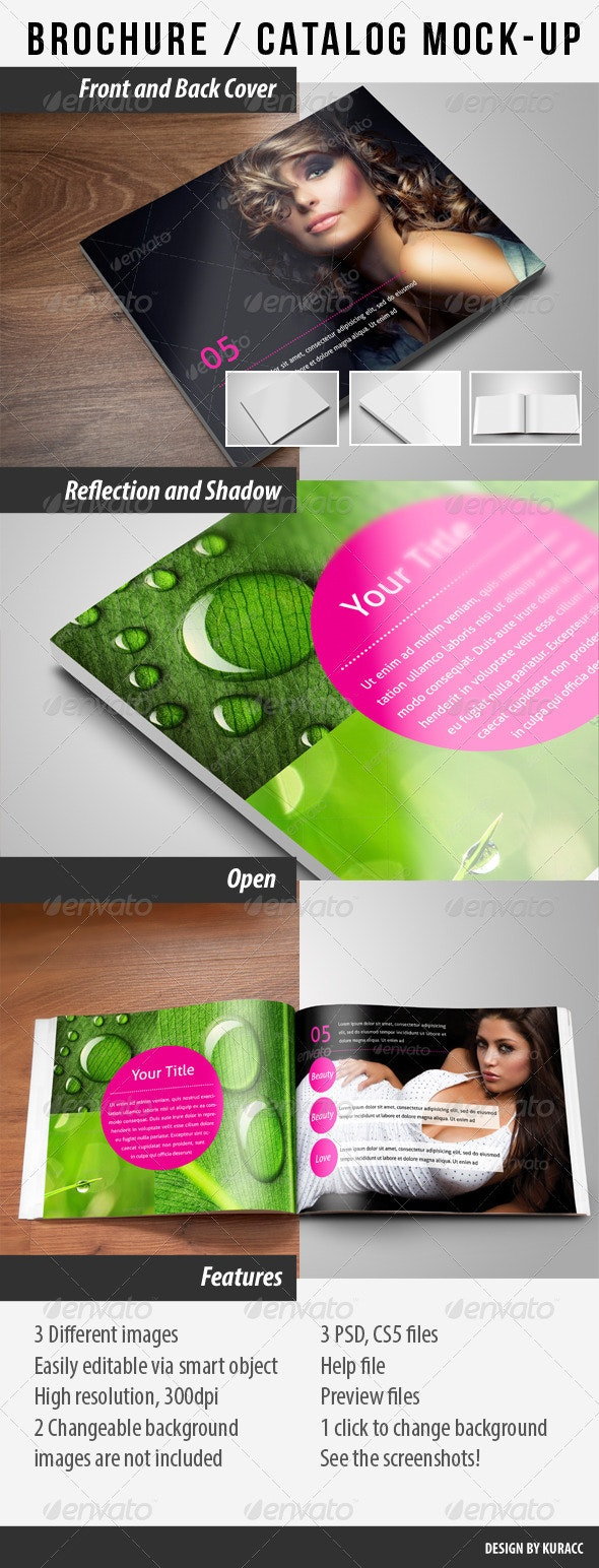 Brochure / Catalog Mock-Up - Brochures Print