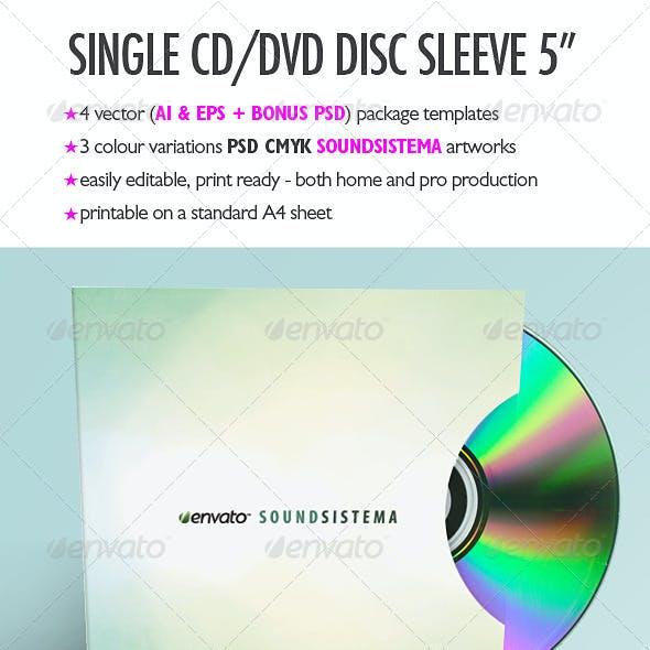 Single CD/DVD Disc Sleeve Template