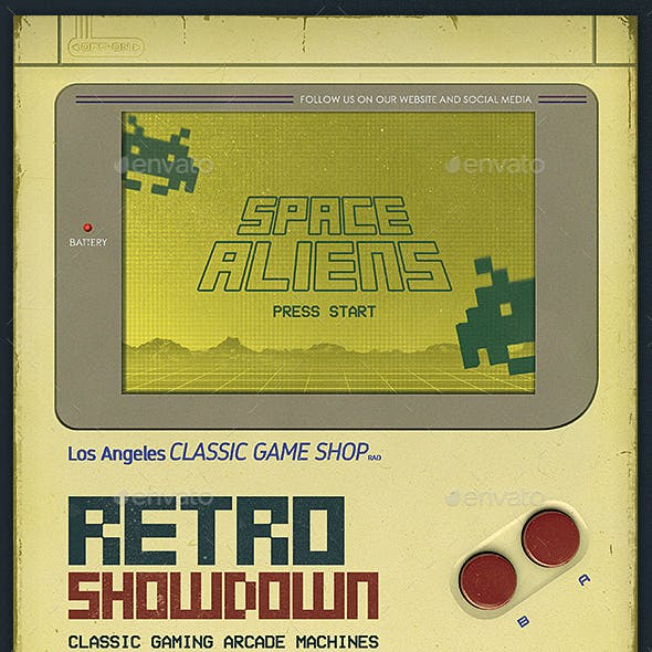 Retro Gaming 80s Arcade Flyer Template