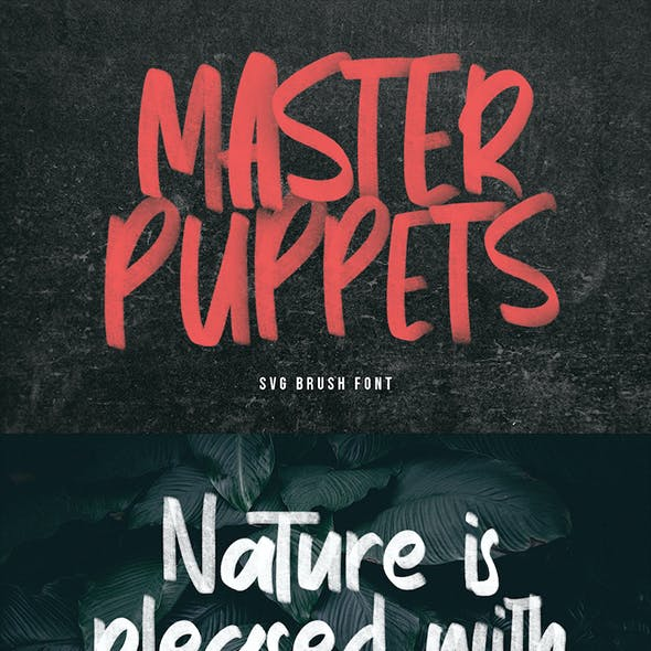 Master Puppets SVG Brush Sans Handmade Font Type