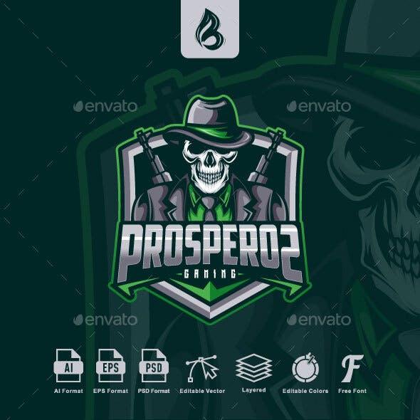 Mafia Skull Esport Logo