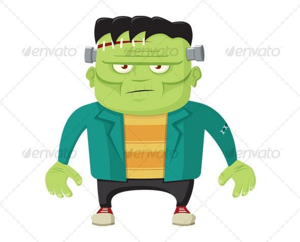 Cartoon Frankenstein's Monster - Monsters Characters