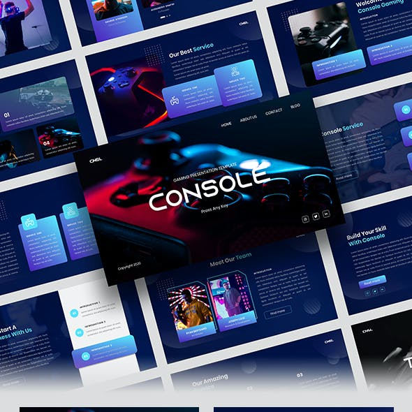 Console – Gaming Google Slides Template