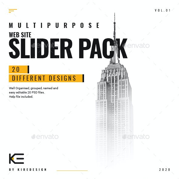 Multipurpose Web Site Slider Pack