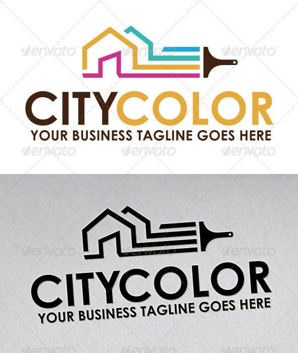 City Color Logo - Buildings Logo Templates