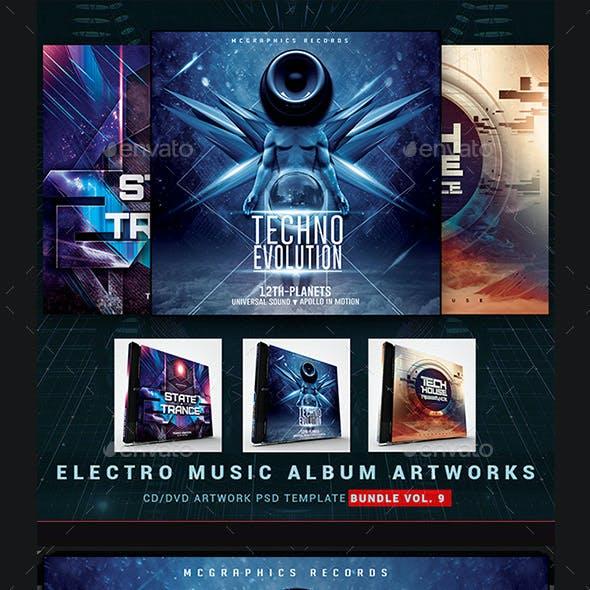 Electro Music CD/DVD Template Bundle Vol. 9