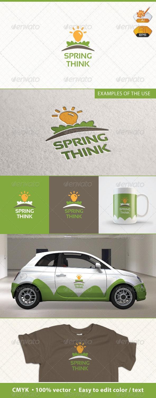 Spring Think Logo Template - Symbols Logo Templates