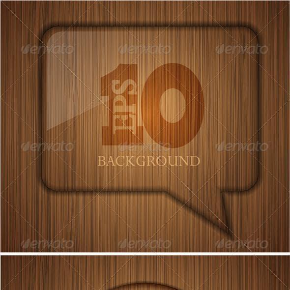 Vector wooden element design