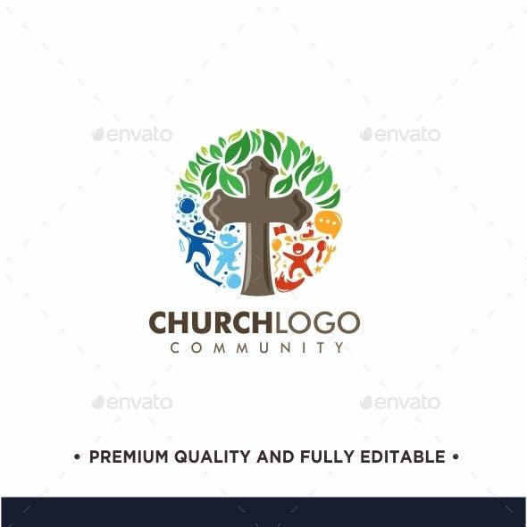 Colorful Church Logo