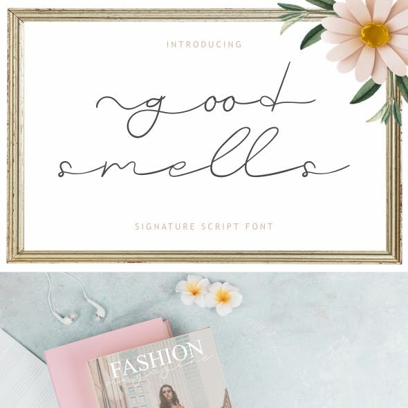 Good Smells Font