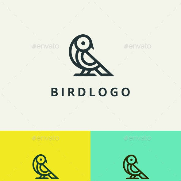 Modern bird logo design