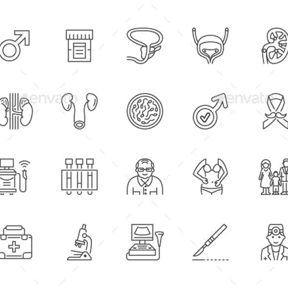 Urology Line Icons