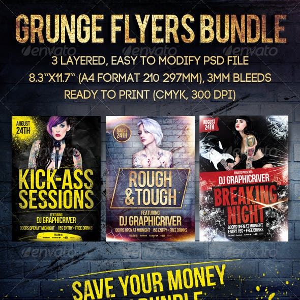 Grunge Flyers Bundle