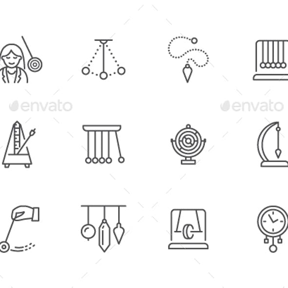 Pendulum Line Icons