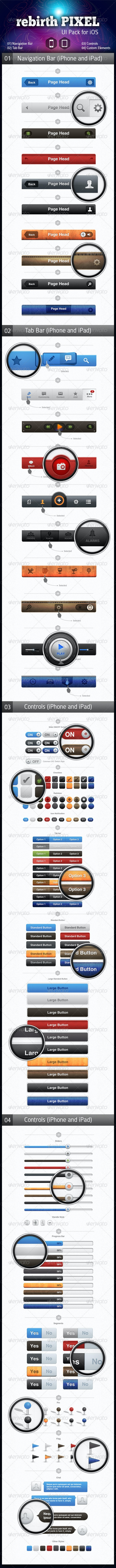 UI Pack for iOS by rebirthPIXEL