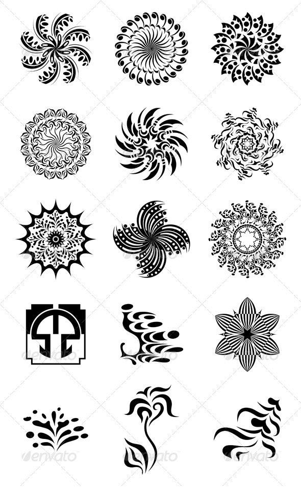 Black Decorative Elements for Design - Miscellaneous Vectors