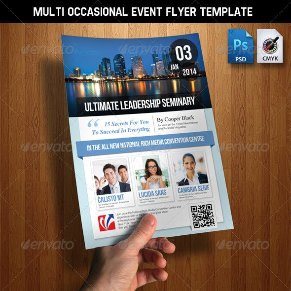 Multi Occasion Event Flyer Template