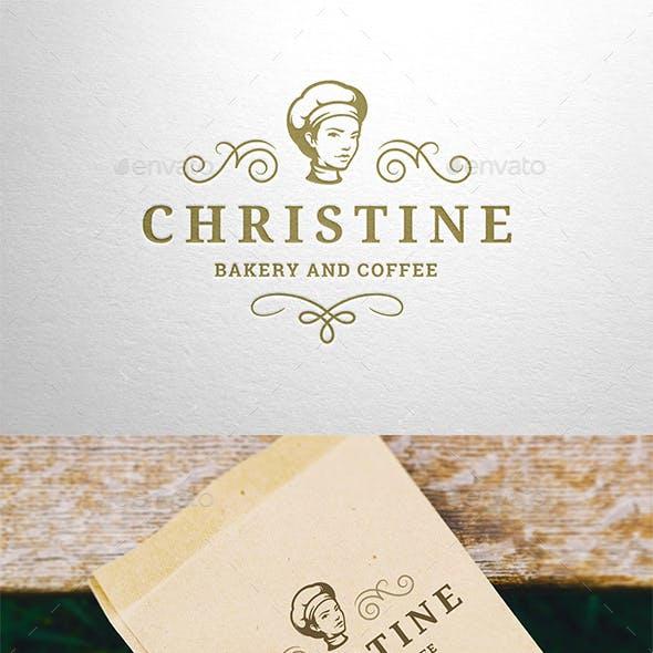 Feminine Bakery Logo Design Template