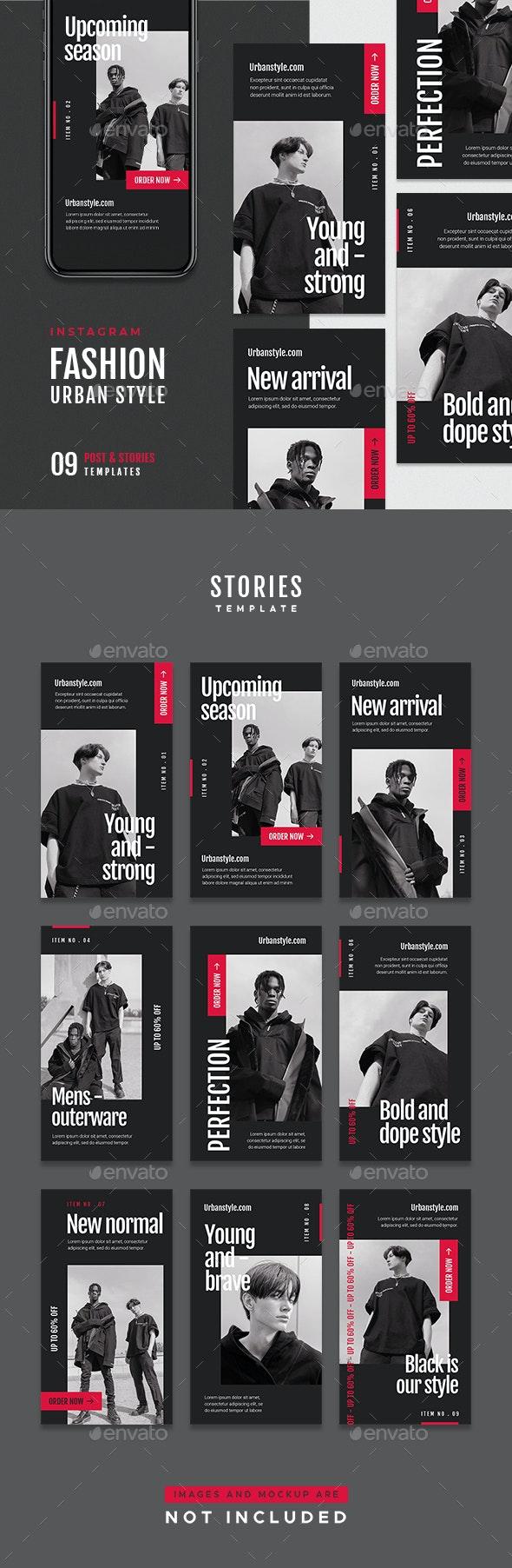 Fashion Instagram Stories - Social Media Web Elements
