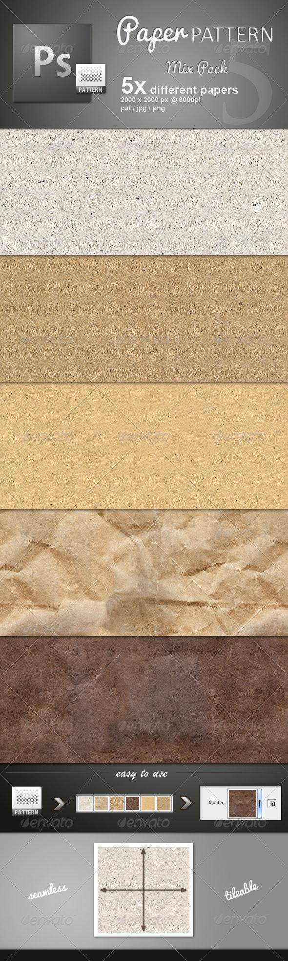 Paper Pattern MIX - Miscellaneous Textures / Fills / Patterns