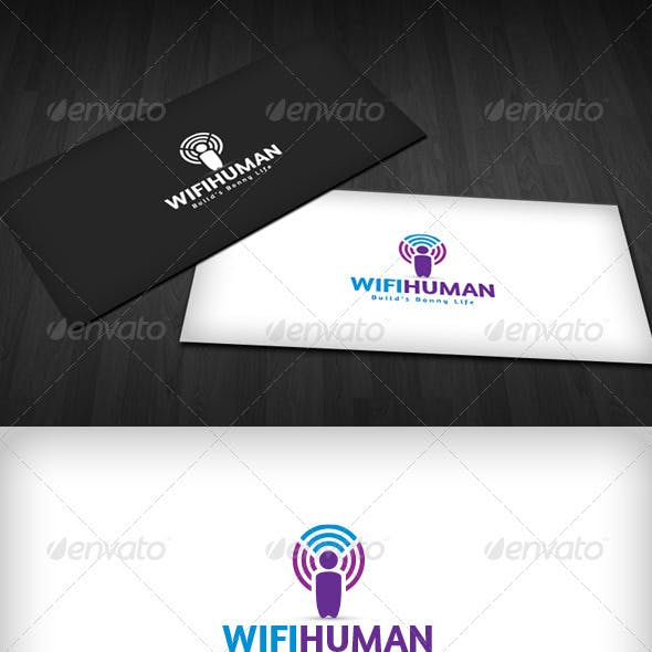 Wifi Human Logo