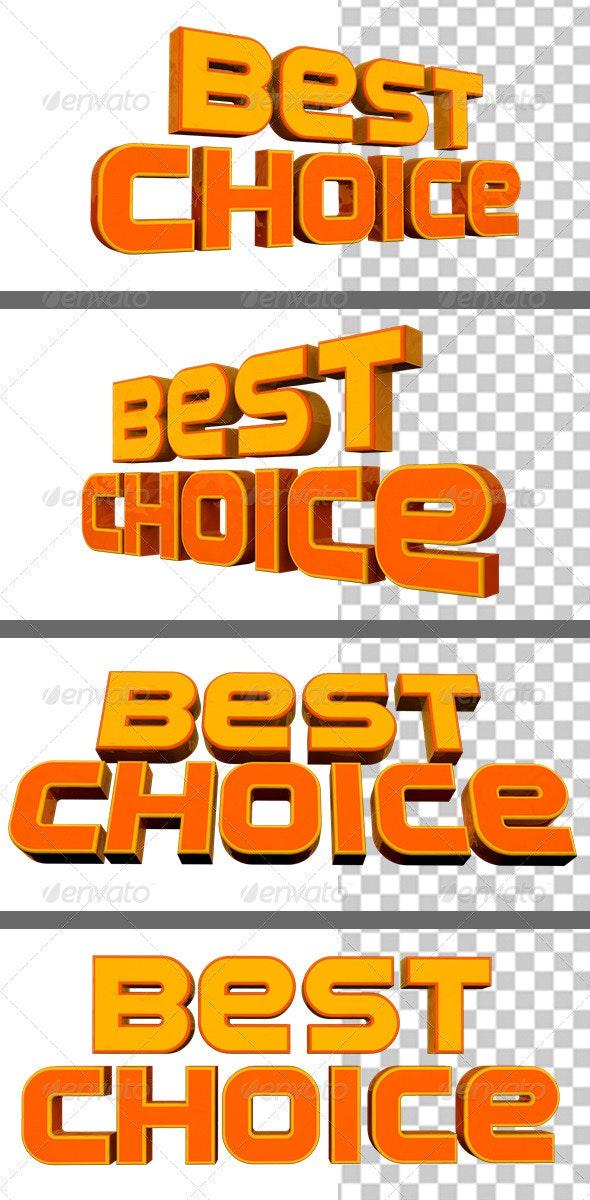 3D Best Choice - 3D Renders Graphics