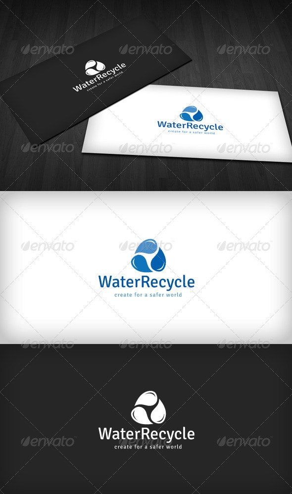 Water Recycle Logo - Nature Logo Templates