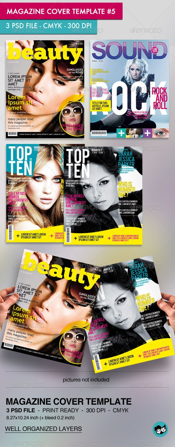 Magazine Cover Template (pack #5)