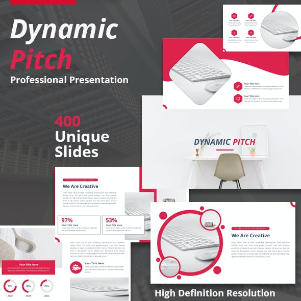 Dynamic Pitch Powerpoint Template