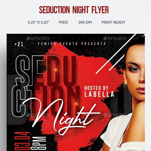 Seduction Night Flyer Template