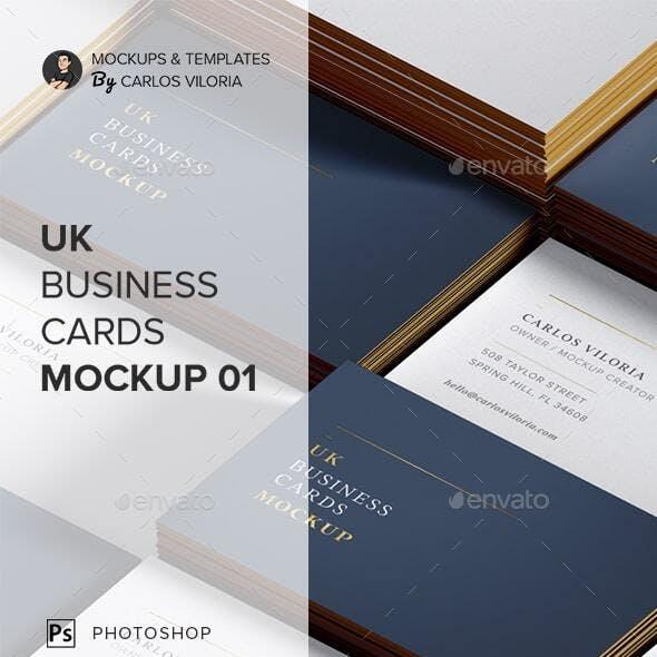 UK Business Cards Mockup 01