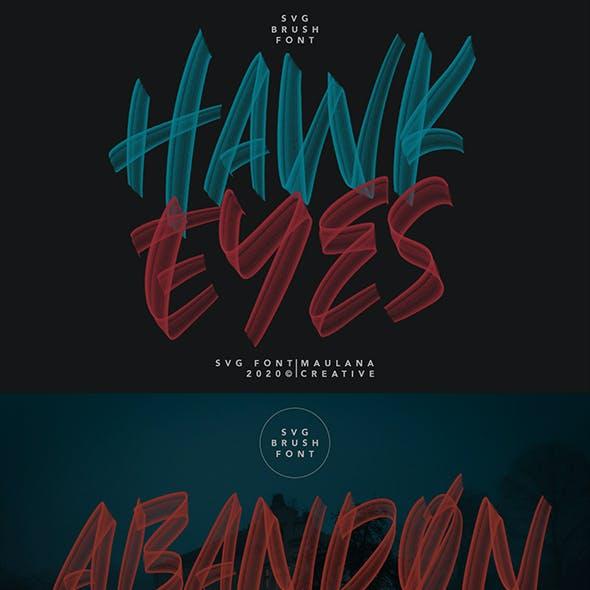 Hawkeyes SVG Brush Handmade Font Typeface Vector