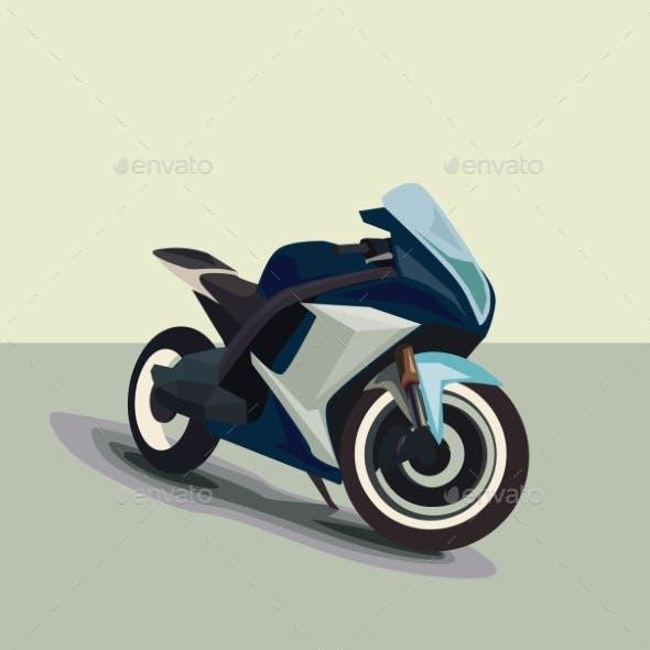 Motorcycle Model Sportbike Eps 10 Vector Isolated