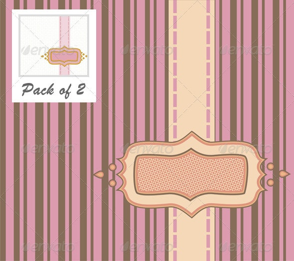 Frame with Ribbon Pinstripe Vector - Backgrounds Decorative