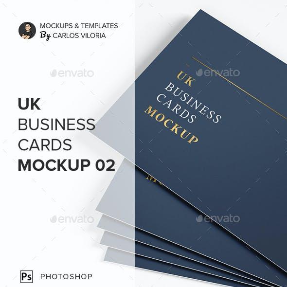 UK Business Cards Mockup 02