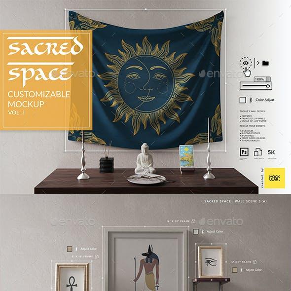 Sacred Space Customizable Mockup