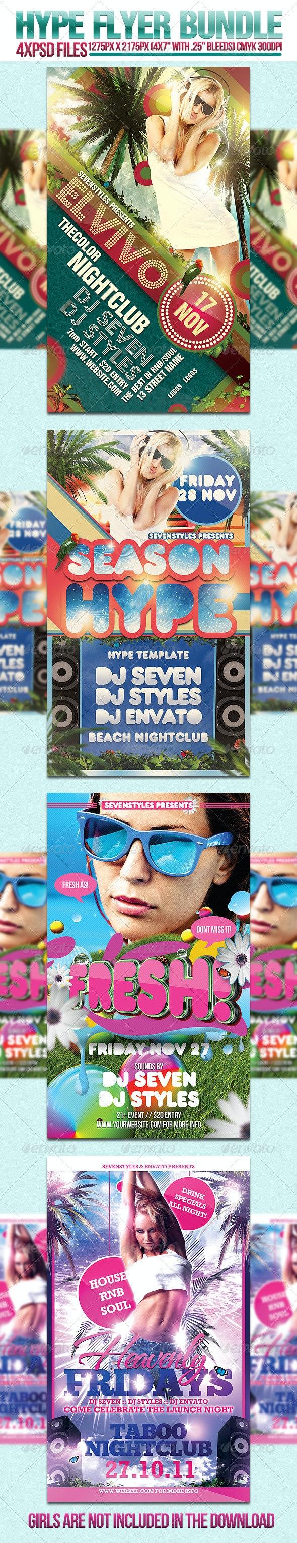 Hype Flyer Bundle - Clubs & Parties Events