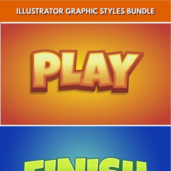 8 Logo Graphic Styles for Illustrator
