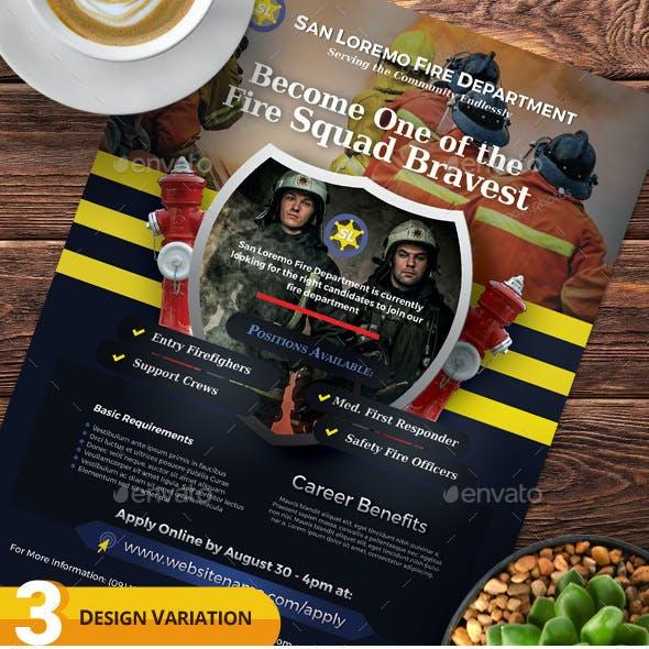 Firefighter Recruitment Flyer Templates