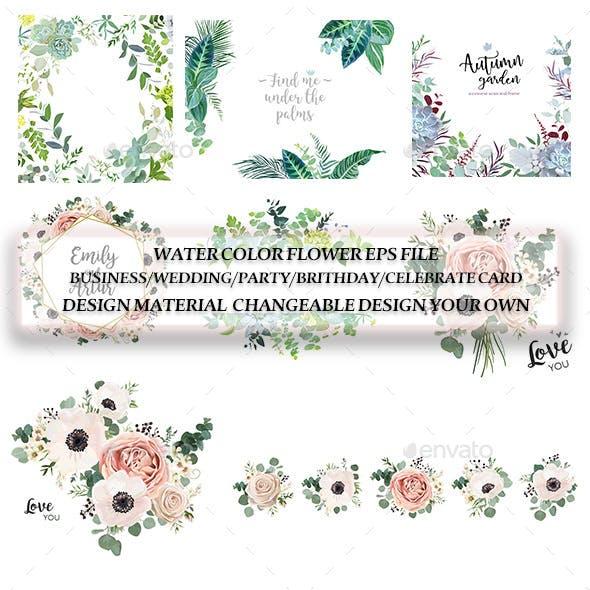 Watercolor Flower Designs