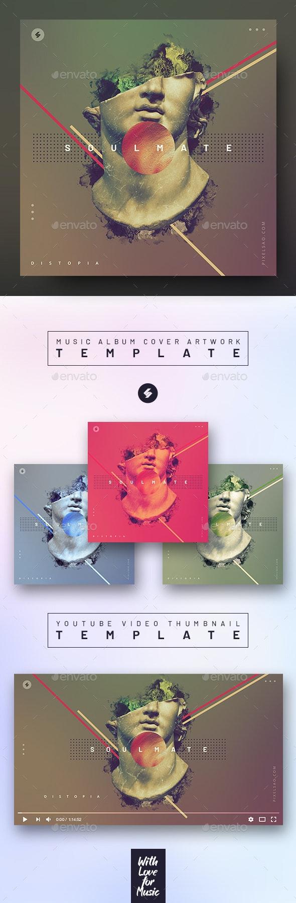 Soulmate – Music Album Cover Artwork / Video Thumbnail Template - Miscellaneous Social Media