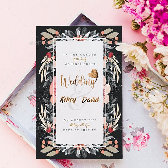 Wedding Invitation and Save The Date Flyer