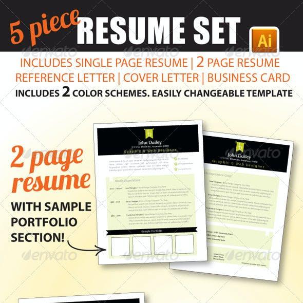5 Piece Resume Set